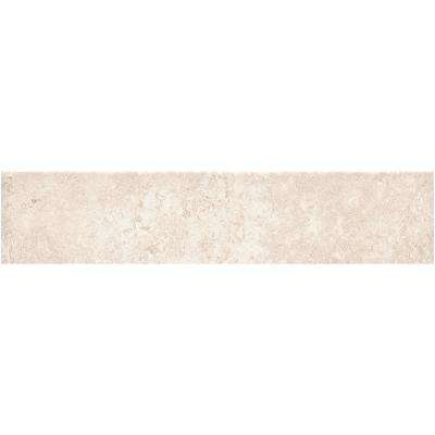 Phoenix Light Beige 3 in. x 12 in. Porcelain Tile Floor and Wall Bullnose (0.25 sq. ft.)