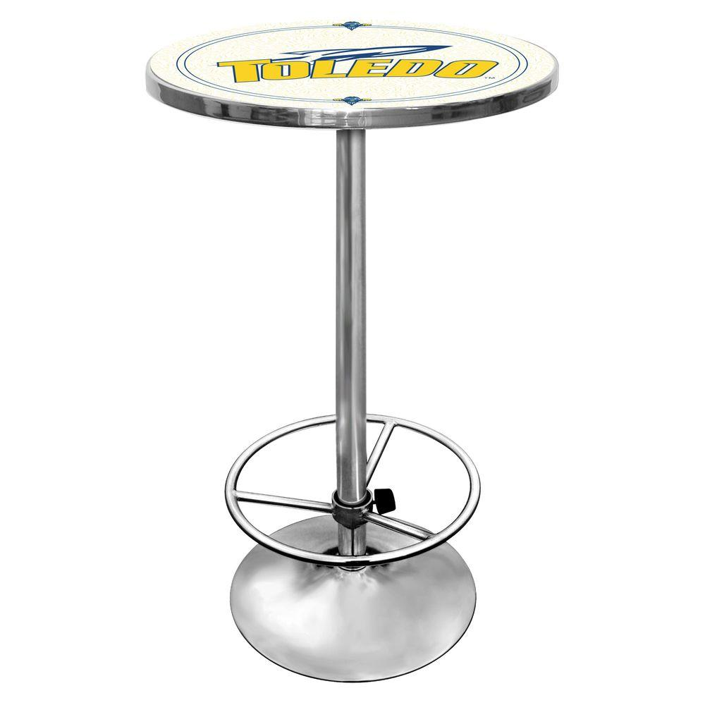 Trademark University of Toledo Chrome Pub/Bar Table