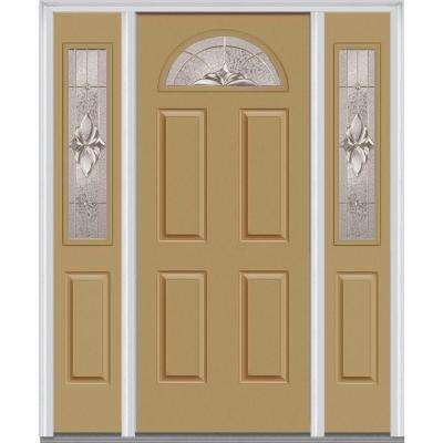 64 in. x 80 in. Heirloom Master Right-Hand Inswing 1/4  sc 1 st  Home Depot & 4 Panel - Light Brown - Front Doors - Exterior Doors - The Home Depot