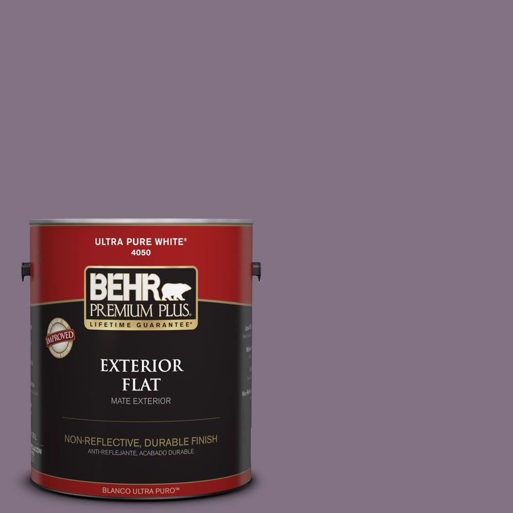 BEHR Premium Plus 1-gal. #HDC-SP14-9 Decorative Iris Flat Exterior Paint