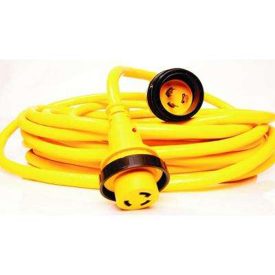 25 ft. 30 Amp 10/3 Marine Power Cord with Locking Ring