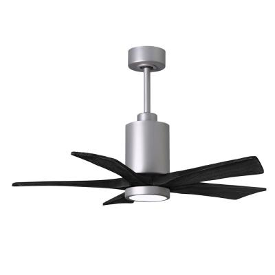 Patricia-5 42 in. Integrated LED Brushed Nickel Ceiling Fan with Light Kit