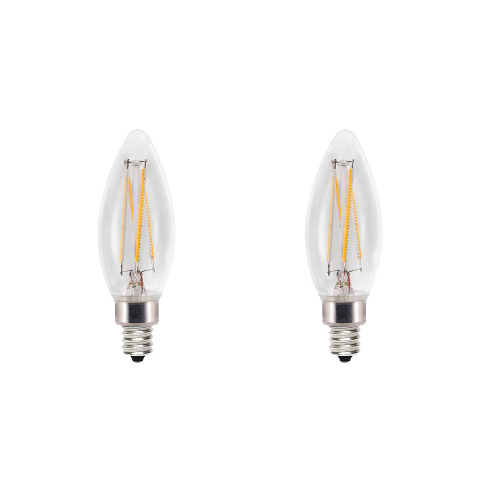 Cree 60w Equivalent Soft White 2700k B11 Candelabra Exceptional Light Quality Dimmable E12 Led