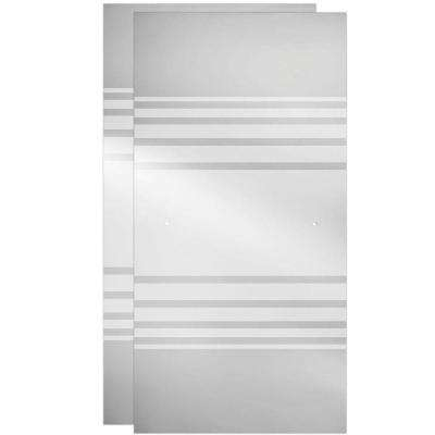 60 in. Sliding Shower Door Glass Panels in Transition (1-Pair)