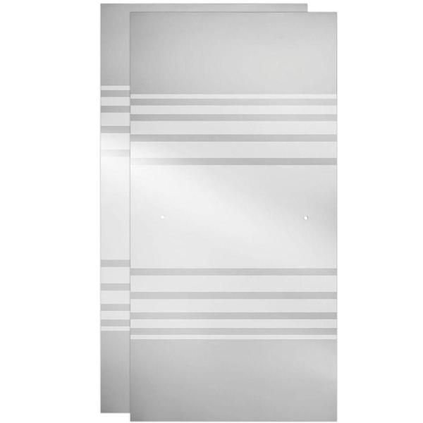 29-1/32 in. x 67-3/4 in. x 1/4 in. Frameless Sliding Shower Door Glass Panels in Transition (1-Pair for 50-60 in. Doors)