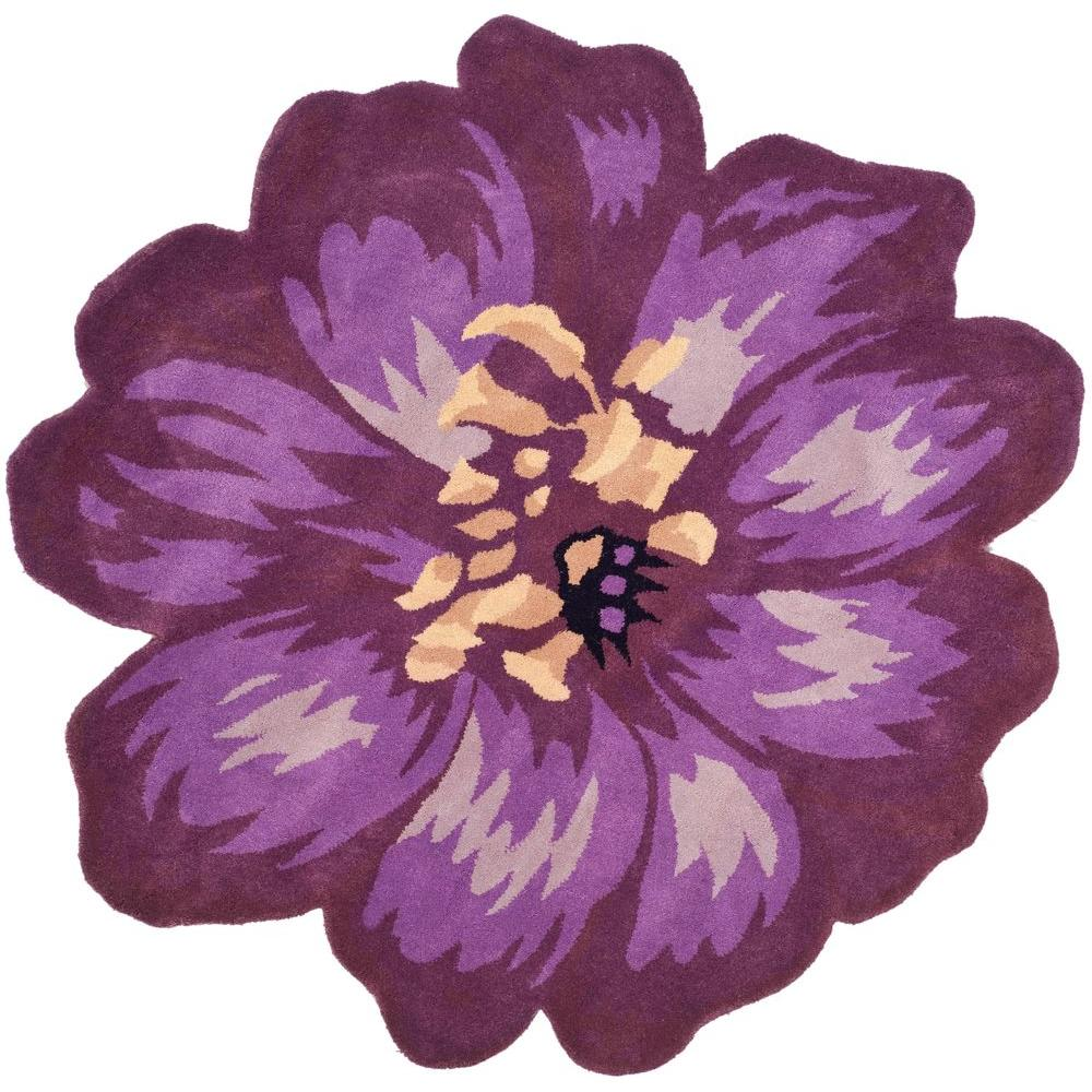 Safavieh Novelty Lilac 5 Ft. X 5 Ft. Round Area Rug
