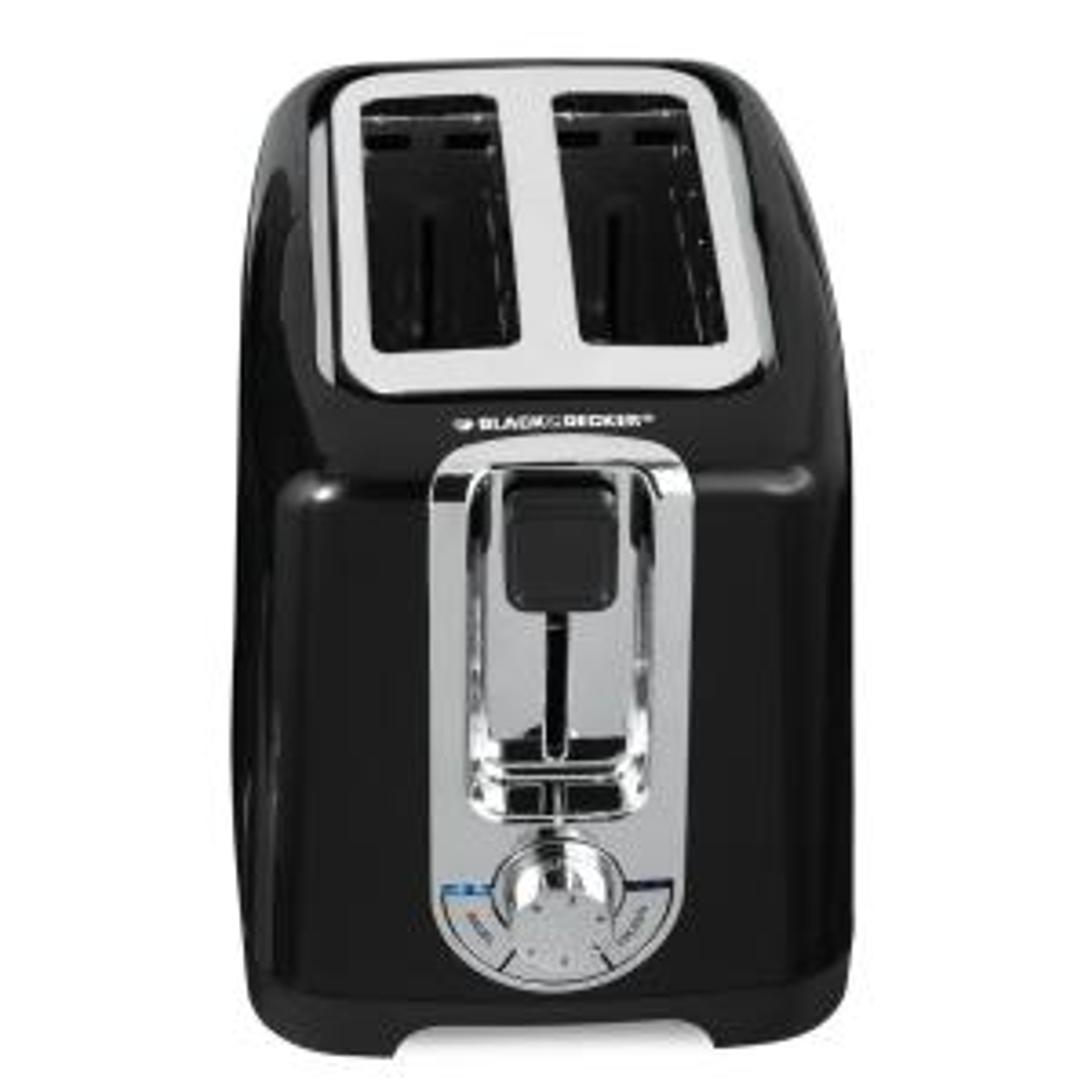 Click here to buy Black & Decker 2-Slice Black Toaster by BLACK+DECKER.
