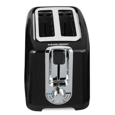 2-Slice Black Toaster