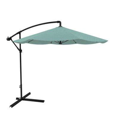 10 ft. Hanging Cantilever Patio Umbrella in Dusty Green