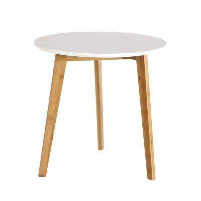 Costanoa Wood Side Table In White