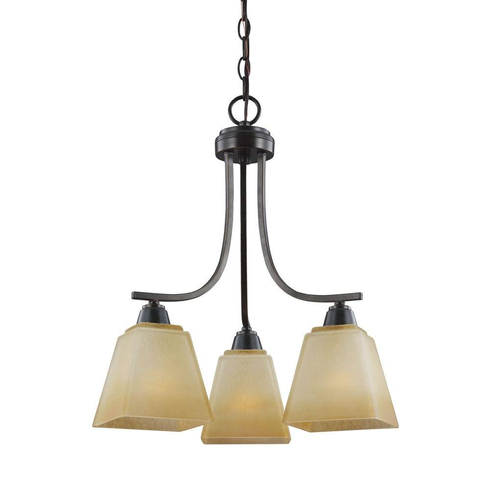 Parkfield 3-Light Flemish Bronze Single Tier Chandelier