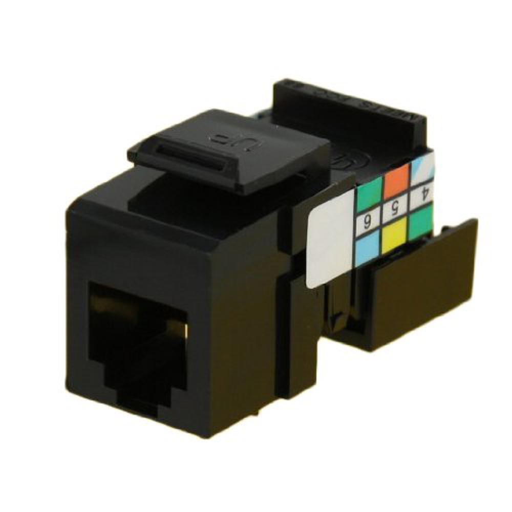 QuickPort 6P6C Voice Grade Connector, Black