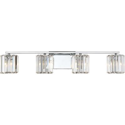 Divine 4-Light Polished Chrome Vanity Light