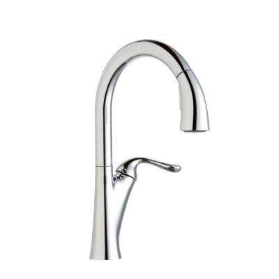 Harmony Single-Handle Pull-Down Sprayer Kitchen Faucet in Chrome
