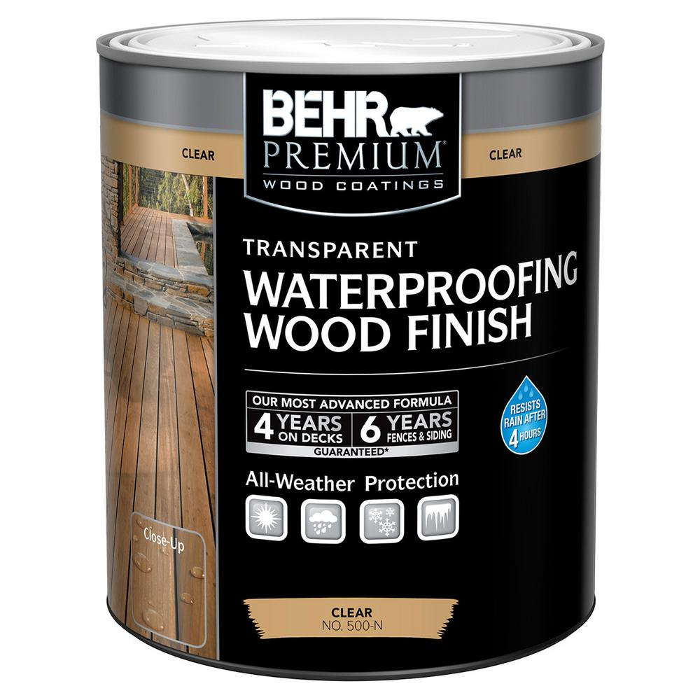 BEHR Premium 1 qt. Natural Clear Transparent Waterproofing Wood Finish