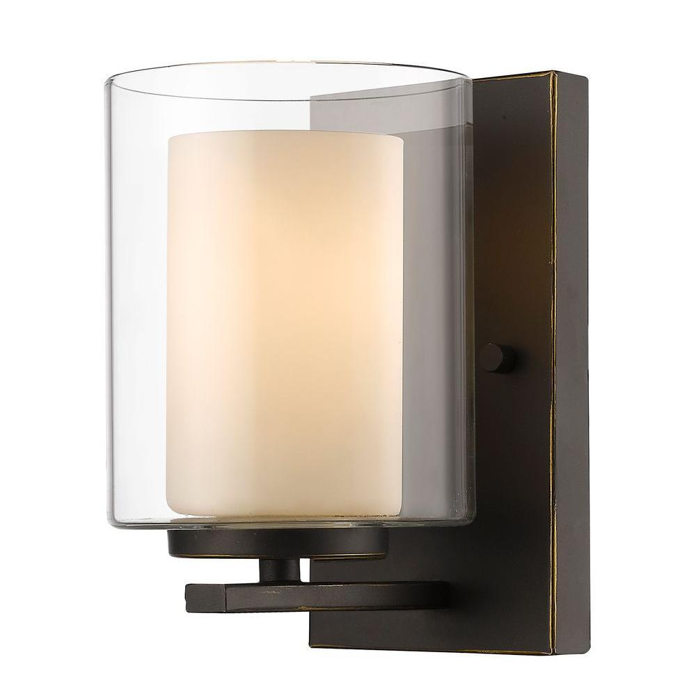 Wesson 1-Light Olde Bronze Sconce