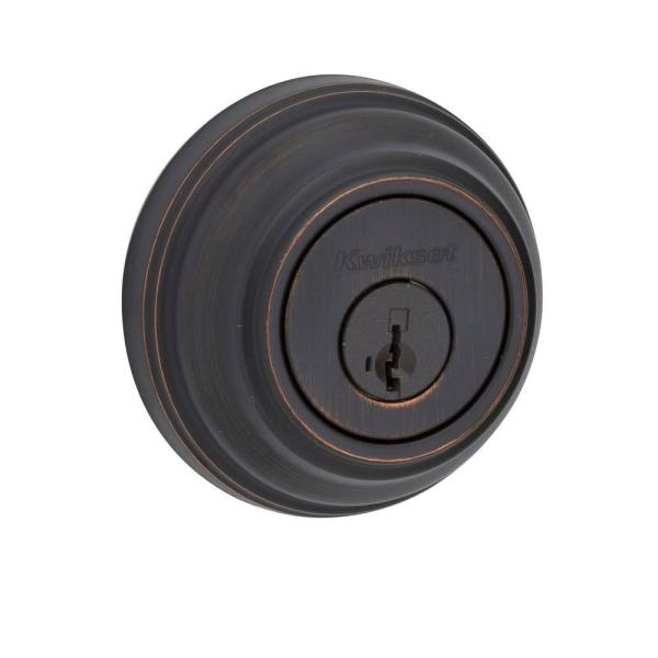 Venetian Bronze Double Cylinder Deadbolt featuring SmartKey Security