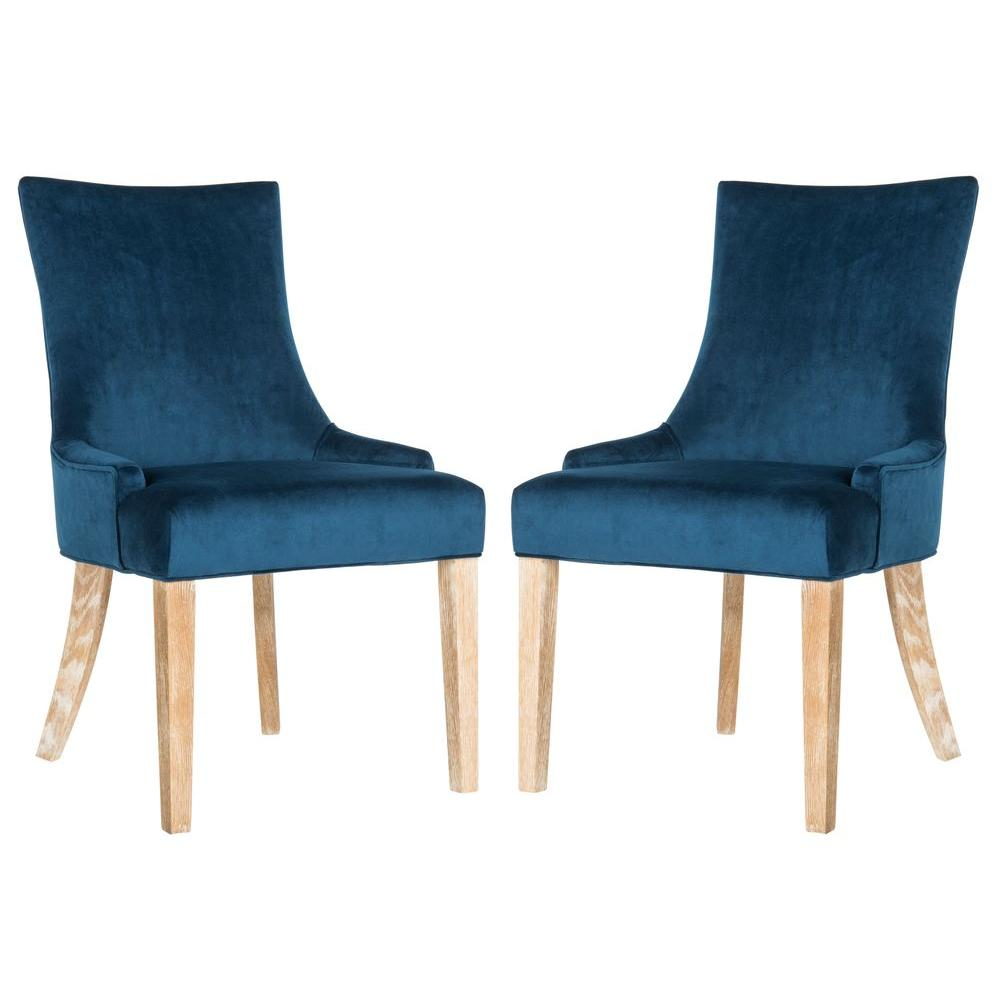 Safavieh Lester Navy Cotton Chair (2-Pack)-MCR4709AV-SET2