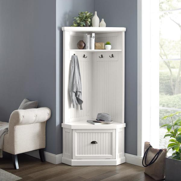 Crosley Furniture Seaside White Corner
