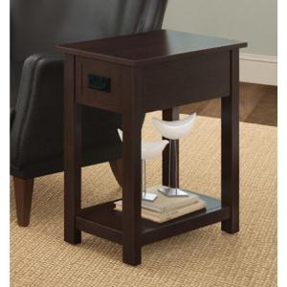 Espresso Storage Side Table