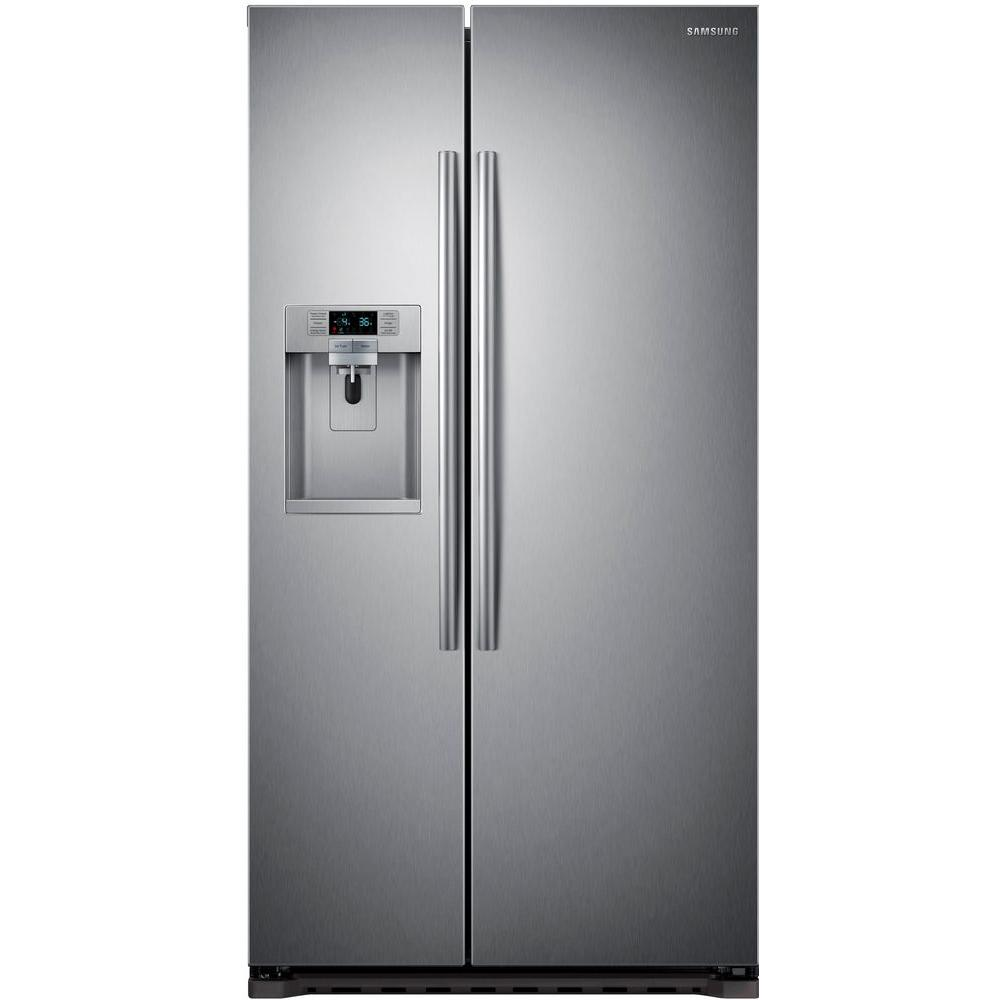 Merveilleux Side By Side Refrigerator In Stainless Steel, Counter Depth