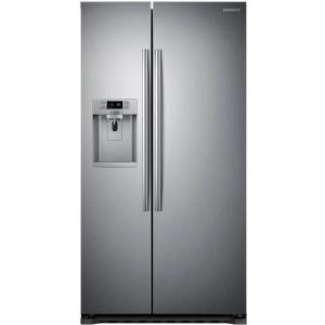 Samsung Side By Side samsung 22 3 cu ft side by side refrigerator in stainless steel