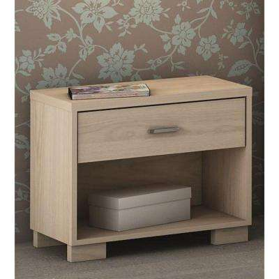 Astor 1-Drawer Oak Vanilla Nightstand