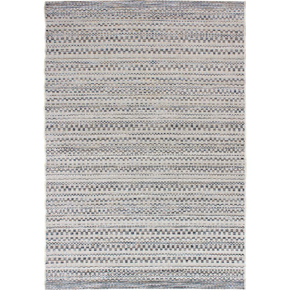 Orian Rugs Isle Sky Gray 5 ft. 1 in. x 7 ft. 6 in. Stripes Indoor ...