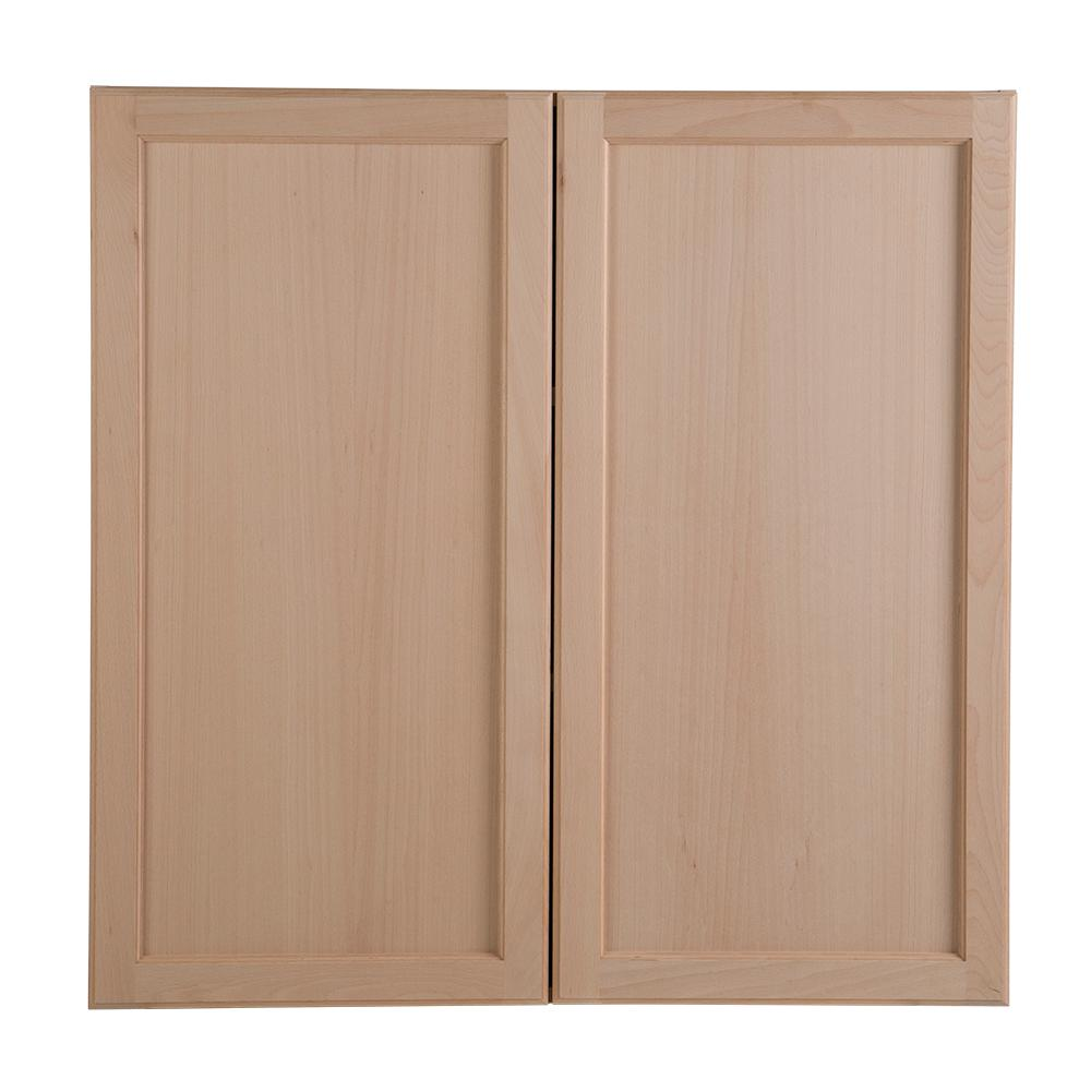 wood kitchen furniture. Easthaven Assembled 36x36x12.62 In. Wall Cabinet In Unfinished German Beech Wood Kitchen Furniture