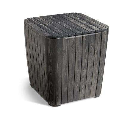 Luzon Rezolith Flexitone Graphite Outdoor Side Table With Storage