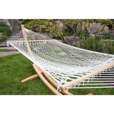 12.5 ft. Polyester Rope Double Hammock in White