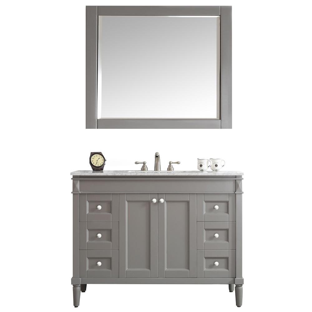 OVE Decors OVE Tahoe 48 in. W x 21 in. D Vanity in Dove Grey with ...