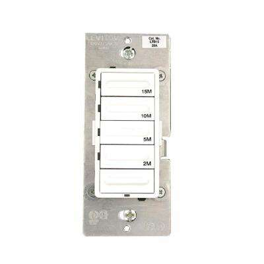 1800-Watt 15-Minute Decora Preset Single-Pole/3-Way Countdown Timer (Neutral Wire Required), White/Ivory/Light Almond