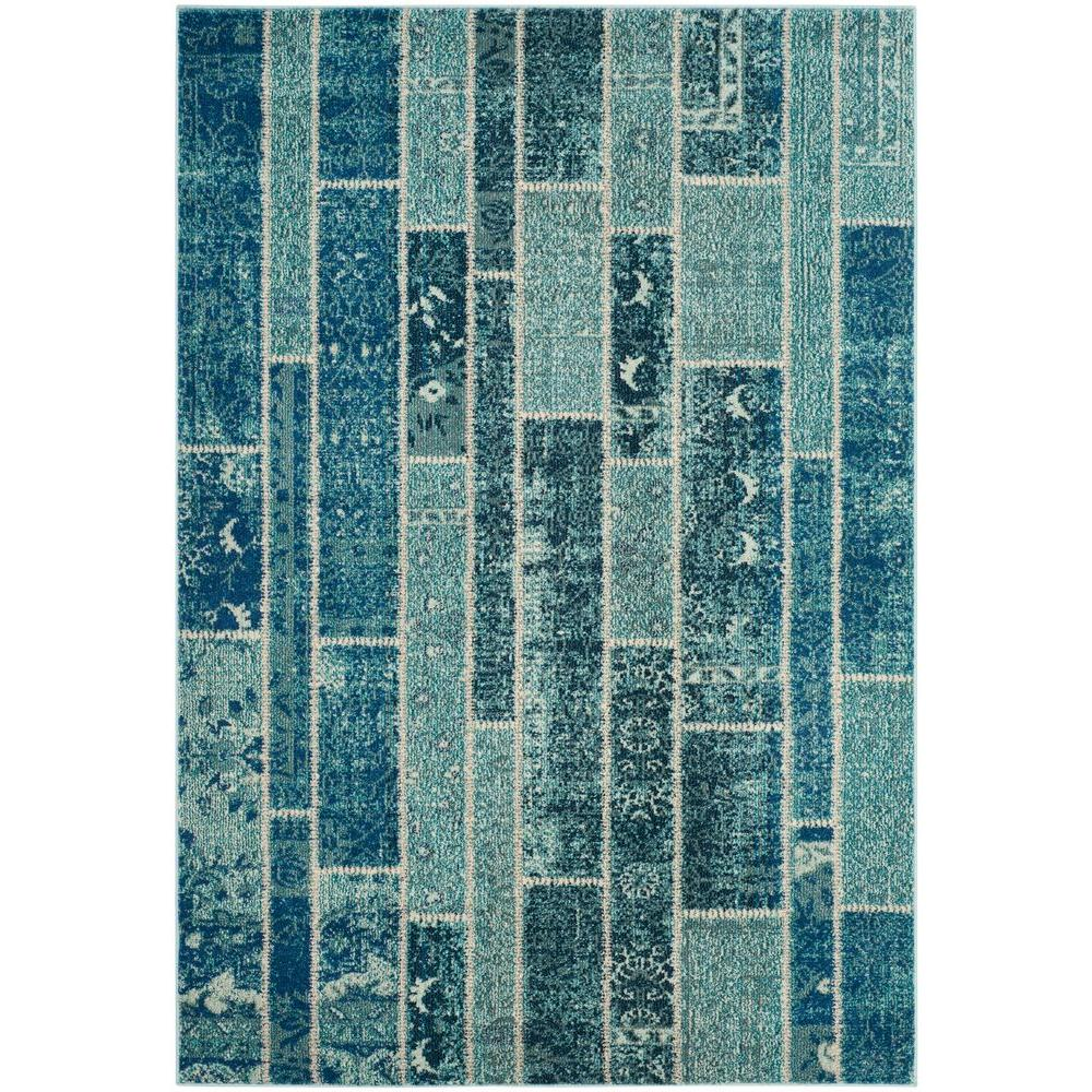 Monaco Blue/Multi 6 ft. 7 in. x 9 ft. 2 in.