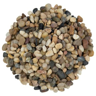 Mixed Polished 0.5 cu. ft . 0.25 to 0.5 in. Pebbles 40 lb. Bag (28 Bags / Pallet)