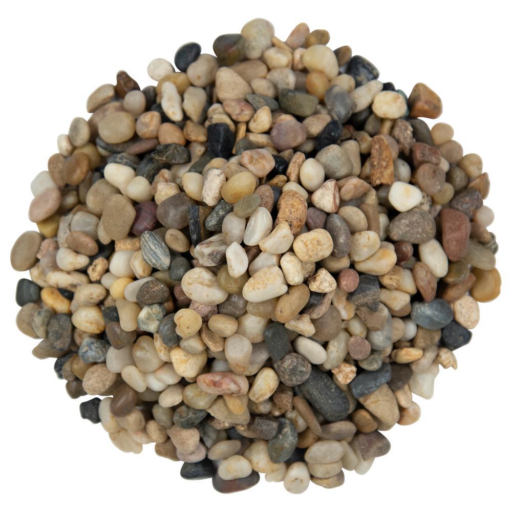 Mixed Polished 0.5 cu. ft. per Bag (0.25-0.75 in.) Bagged Landscape Rock 40 lb. Bag