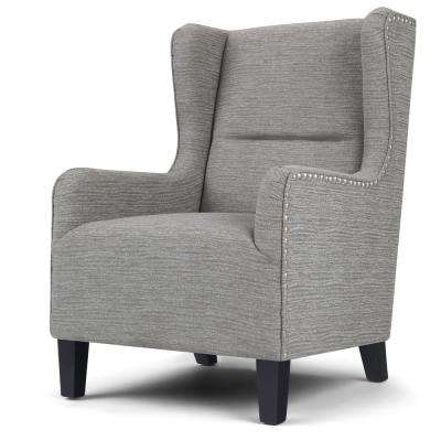 Taylor Grey Wingback Chair