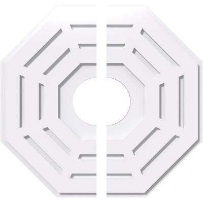 24 in. OD x 6 in. ID x 1 in. P Westin Architectural Grade PVC Contemporary Ceiling Medallion (2-Piece)