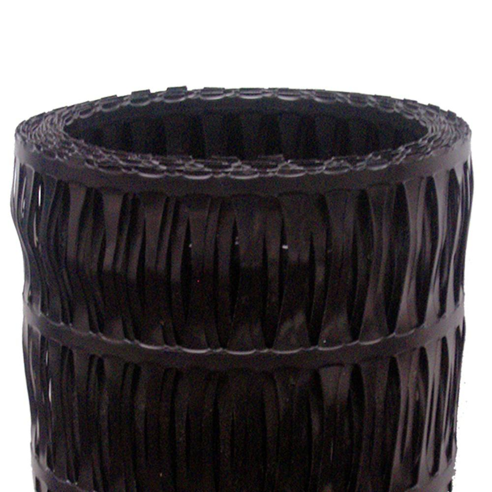 48 in. x 75 ft. Uniaxial Black High-Density Polyethylene GeoGrid Retaining