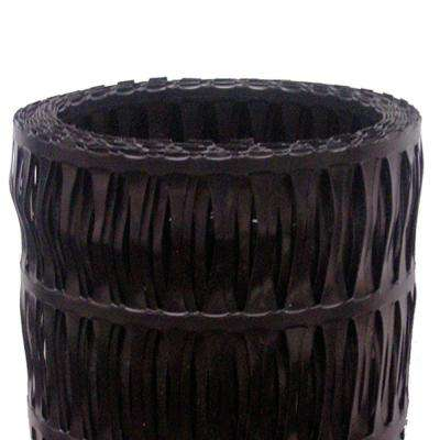 48 in. x 75 ft. Uniaxial Black High-Density Polyethylene GeoGrid Retaining Wall Reinforcement