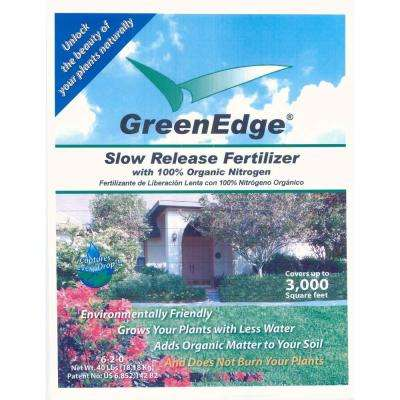 40 lb. 6-2-0 Slow Release Organic Fertilizer -Lawn and Garden Fertilizer. Covers 3200 sq. ft.