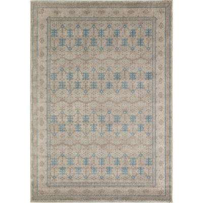 Evelyn Ivory Gray Ivory 2  ft. 0 in. x 3  ft. 0 in. Rectangular Accent Rug