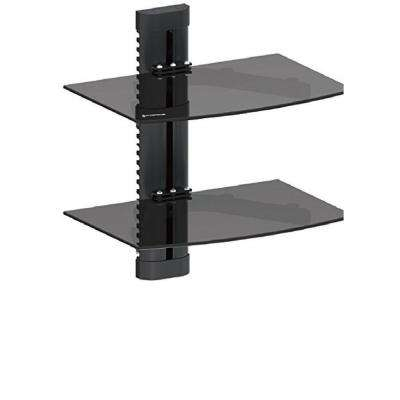 DVD Double Shelf Wall Mount for Media Players with Tempered Glass