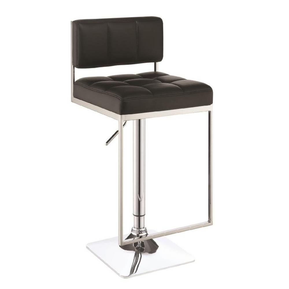 Astonishing Rec Room Adjustable Black Low Back No Arms Bar Stool Pabps2019 Chair Design Images Pabps2019Com