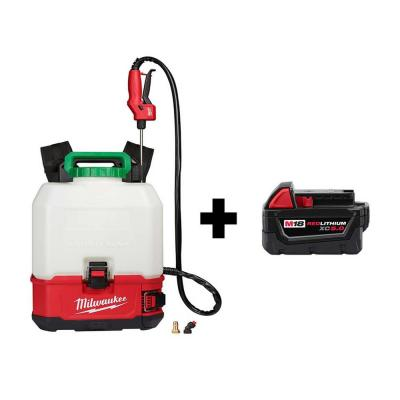 M18 18-Volt 4 Gal. Lithium-Ion Cordless Switch Tank Backpack Pesticide Sprayer W/ M18 5.0Ah Battery