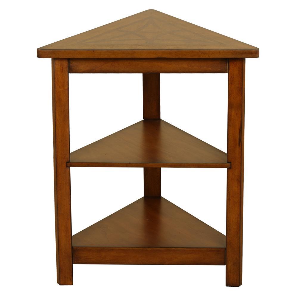 Walnut Triangle Side Table