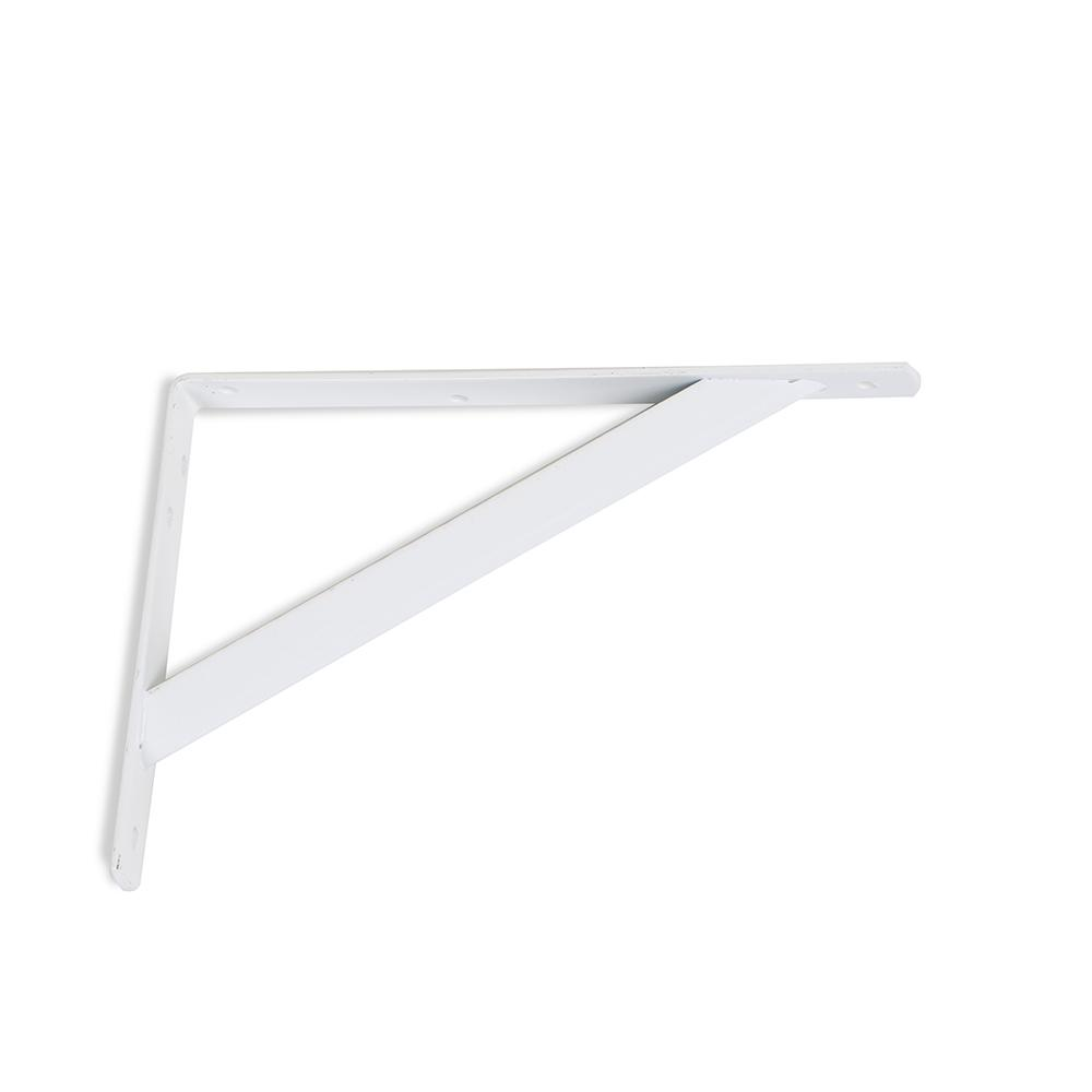 Everbilt 8 in. x 11.25 in. x 1.05 in. Heavy Duty White Shelf Bracket