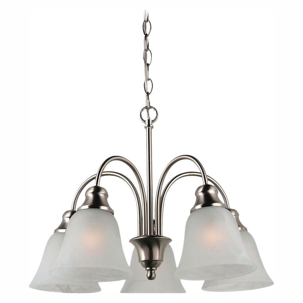 Sea Gull Lighting Windgate 5-Light Brushed Nickel 1-Tier Chandelier was $139.99 now $20.0 (86.0% off)