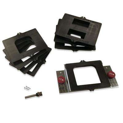 DoorMortiseKit, Ready To Use Drop-in Door Hinge Template System for Routing Hinge, Strike and Latch Plate Mortises