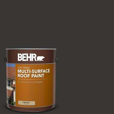 1 gal. Black Flat Multi-Surface Exterior Roof Paint